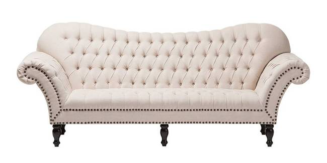 Manhattan Fabric Sofa(Beige) (3-seater Custom Set - Sofas, None Standard Set - Sofas, Beige, Fabric Sofa Material, Regular Sofa Size, Regular Sofa Type)