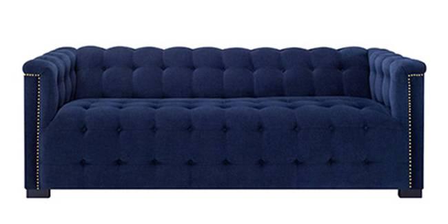 Olympia Fabric Sofa(Navy Blue) (3-seater Custom Set - Sofas, None Standard Set - Sofas, Navy Blue, Fabric Sofa Material, Regular Sofa Size, Regular Sofa Type)