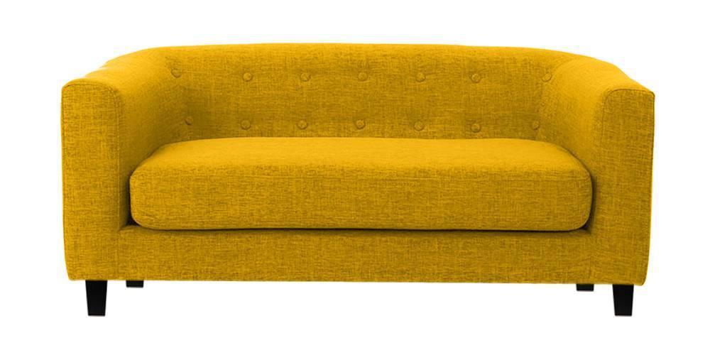 Casper Fabric Sofa (Yellow) (Yellow, 2-seater Custom Set - Sofas, None Standard Set - Sofas, Fabric Sofa Material, Regular Sofa Size, Regular Sofa Type) by Urban Ladder - -