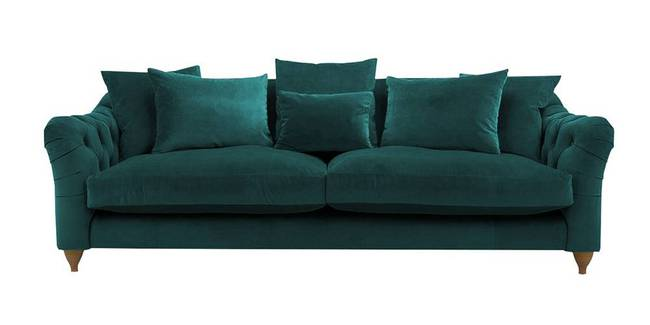 Seoul Fabric Sofa(Green) (Green, 3-seater Custom Set - Sofas, None Standard Set - Sofas, Fabric Sofa Material, Regular Sofa Size, Regular Sofa Type)