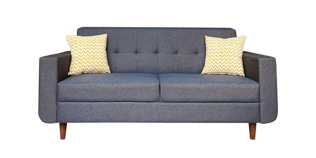 Zaria Fabric Sofa - Grey (Grey, 3-seater Custom Set - Sofas, None Standard Set - Sofas, Fabric Sofa Material, Regular Sofa Size, Regular Sofa Type)