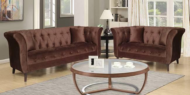 Bunbury Fabric Sofa - Brown (Brown, None Custom Set - Sofas, 3-2 Set Standard Set - Sofas, Fabric Sofa Material, Regular Sofa Size, Regular Sofa Type)