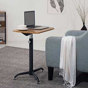 Orson Adjustable Laptop Table (Golden Oak Finish) by Urban Ladder - - 43826