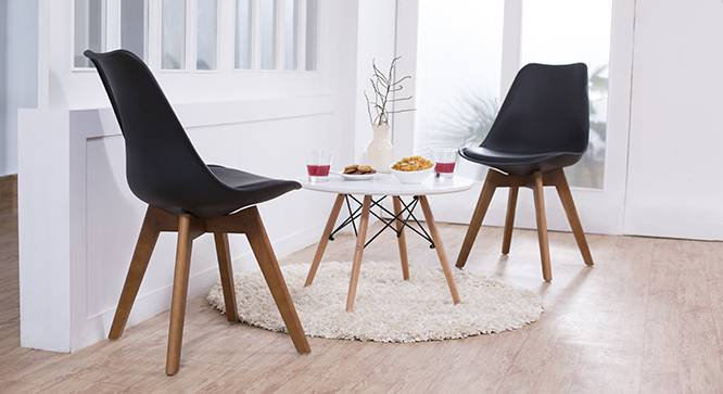 Pashe Dining Chairs - Set of 2 (Black) by Urban Ladder - - 44747