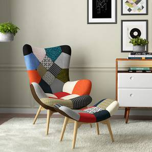 Contour chair and ottoman replica patchwork replace lp