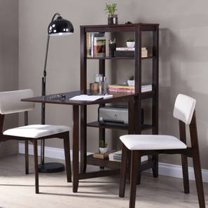 Baxter Folding Study/Dining Table (Dark Walnut Finish) by Urban Ladder
