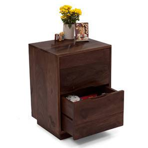 Zephyr Bedside Table (Mahogany Finish) by Urban Ladder - Half View Design 1 - 4849