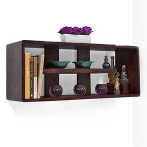 Monza Wall Shelf (Mahogany Finish) by Urban Ladder - - 4925