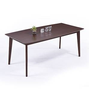 Magnus Dining Table (Dark Walnut Finish) by Urban Ladder