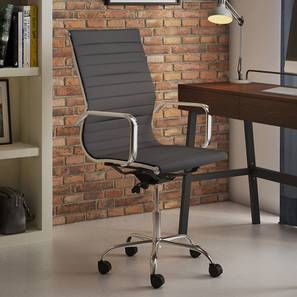 Charles Study Chair - 2 Axis Adjustable (Black) by Urban Ladder