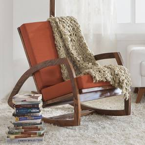 Dylan Rocking Chair (Teak Finish, Amber) by Urban Ladder