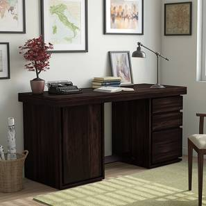 Vector Executive Desk (Mahogany Finish) by Urban Ladder