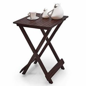 Latt Folding Table/Stool Tall (Mahogany Finish) by Urban Ladder - - 565