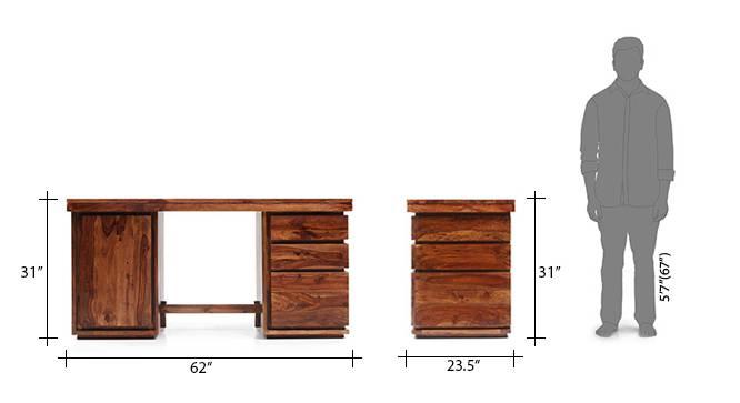 Vector study table   display unit teak 25 26