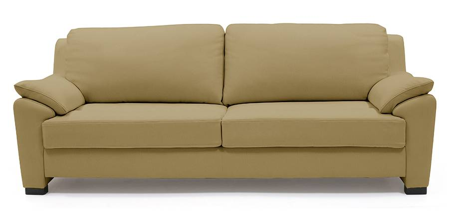 Farina Half Leather Sofa (Camel Italian Leather) (Camel, Regular Sofa Size, Regular Sofa Type, Leather Sofa Material) by Urban Ladder - - 57066