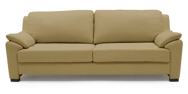 Farina Half Leather Sofa (Camel Italian Leather) (Camel, Regular Sofa Size, Regular Sofa Type, Leather Sofa Material)