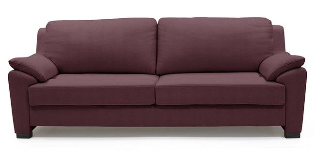 Farina Half Leather Sofa (Wine Italian Leather) (Regular Sofa Size, Regular Sofa Type, Leather Sofa Material, Wine)