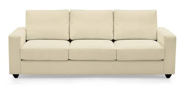 Apollo Leatherette Sofa (Cream) (Cream, Leatherette Sofa Material, Regular Sofa Size, Regular Sofa Type)