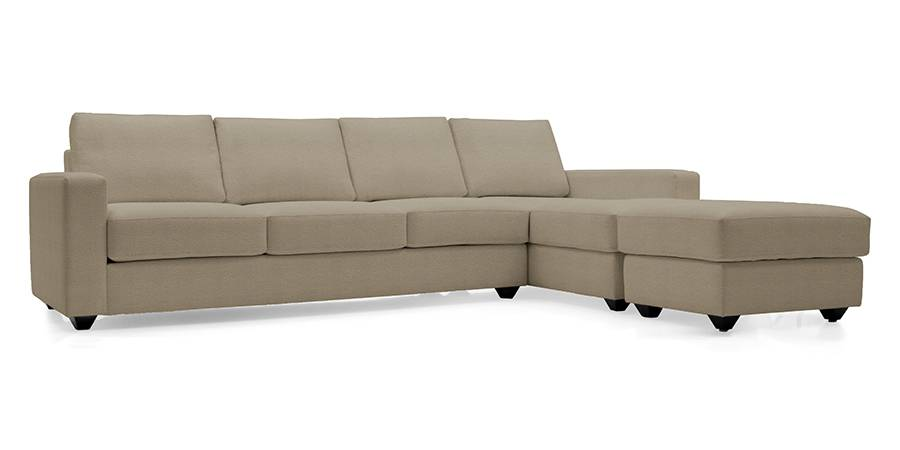 Apollo Sectional Leatherette Sofa (Cappuccino) (Cappuccino, Leatherette Sofa Material, Regular Sofa Size, Sectional Sofa Type) by Urban Ladder