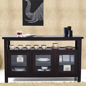 Rhodes 3 Door Sideboard (Mahogany Finish) by Urban Ladder