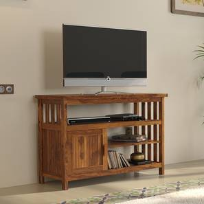 "Rhodes High 45"" TV Unit (Teak Finish) by Urban Ladder"
