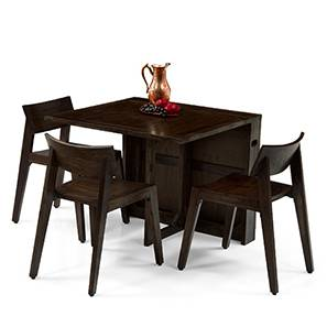 Danton 3-to-6 - Gordon 3 Seater Folding Dining Table Set (Mahogany Finish) by Urban Ladder