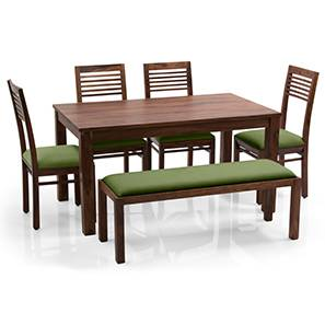 Arabia zella 4 seater upholstered bench dining table set tk ag 00 lp