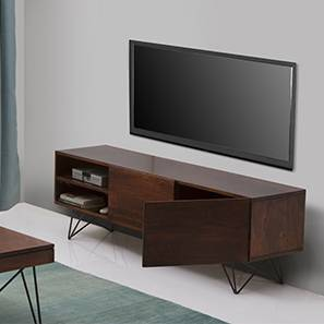 "Dyson 55"" TV Unit (Walnut Finish) by Urban Ladder"