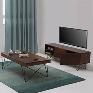 Dyson coffee table tv unit set walnut 00 lp