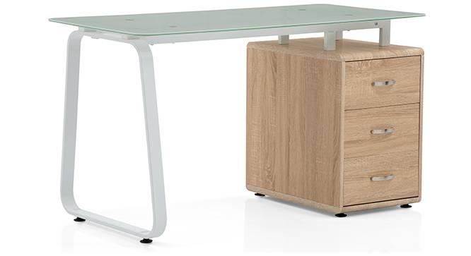 Eddings - Mika Study Set (White, Natural Oak Finish) by Urban Ladder - - 66147