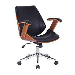 Ray Study Chair (Walnut Finish, Black) by Urban Ladder - - 67787
