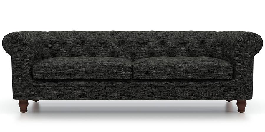 Winchester Fabric Sofa (Cosmic Grey) (Cosmic, Fabric Sofa Material, Regular Sofa Size, Regular Sofa Type) by Urban Ladder - - 77151