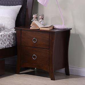 Packard Bedside Table (Dark Walnut Finish) by Urban Ladder