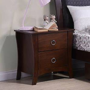 Packard Bedside Table (Dark Walnut Finish) by Urban Ladder - - 80166