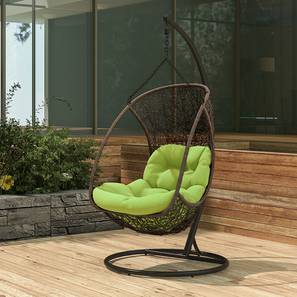 Calabah Swing Chair (Green, Brown Finish) by Urban Ladder - - 81767