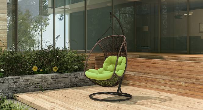 Calabah Swing Chair (Green, Brown Finish) by Urban Ladder - Full View Design 1 - 81768