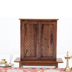 Devoto Prayer Cabinet (Teak Finish, Without Drawer Configuration) by Urban Ladder