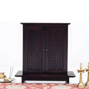 Devoto Prayer Cabinet (Mahogany Finish, Without Drawer Configuration) by Urban Ladder