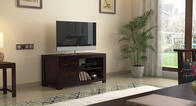 Striado TV Unit (Mahogany Finish) by Urban Ladder