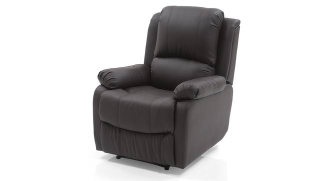 Tribbiani Recliner (Chocolate Brown Leatherette) by Urban Ladder - Front View Design 1 - 82238
