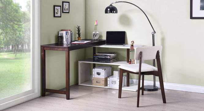 Tolstoy Study Table (Dark Walnut Finish) by Urban Ladder - Full View Design 1 - 82278