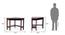 Collins Corner Study Table (Dark Walnut Finish) by Urban Ladder - Template Design 1 - 82332