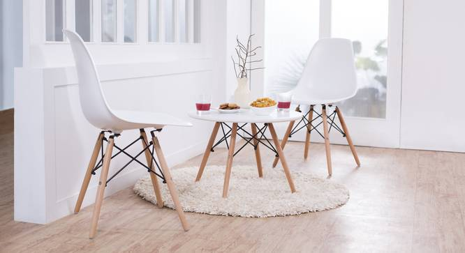 DSW Dining Chair Replicas -  Set of 2 (White) by Urban Ladder