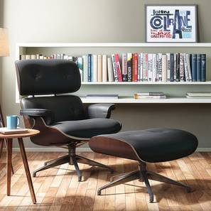 1956 Lounge & Ottoman Replica (Black) by Urban Ladder - - 49332