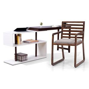 Tolstoy - Hawley Study Set (Dark Walnut Finish) by Urban Ladder
