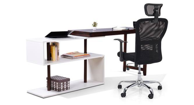 Tolstoy - Venturi Study Set (Carbon Black, Dark Walnut Finish) by Urban Ladder - - 83825