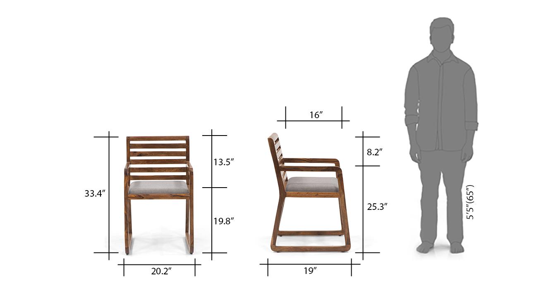Hawley study chair teak dimensions