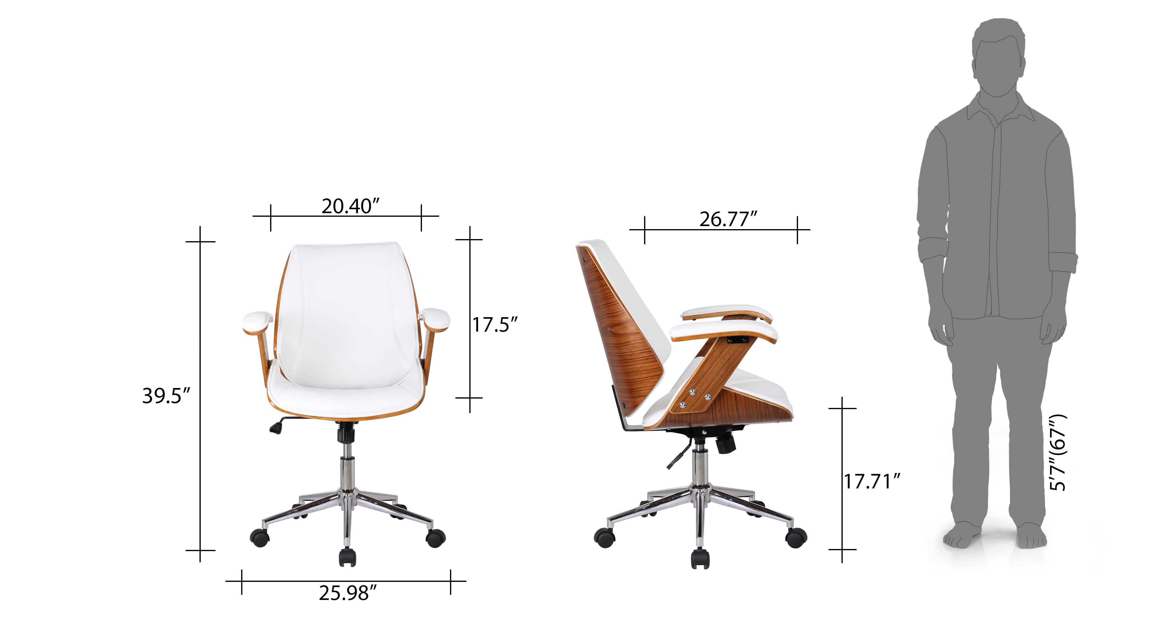 Ray study chair new dim 22