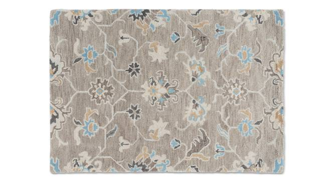 "Sardis Hand Tufted Carpet (122 x 183 cm  (48"" x 72"") Carpet Size, Fossil Grey) by Urban Ladder - - 84847"