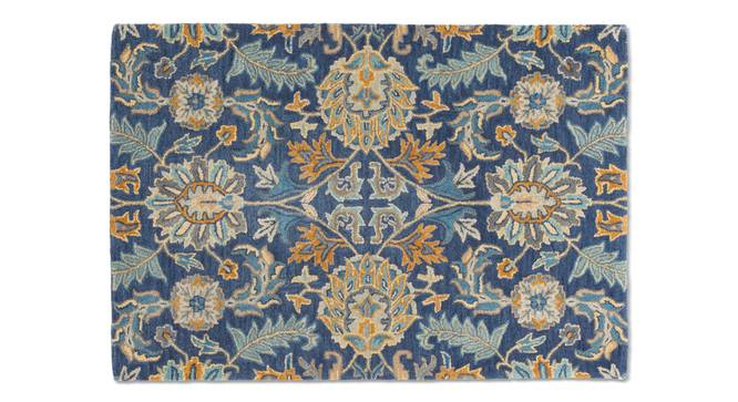 "Sardis Hand Tufted Carpet (122 x 183 cm  (48"" x 72"") Carpet Size, Prussian Blue) by Urban Ladder - - 84857"